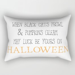May luck be yours on Halloween Rectangular Pillow