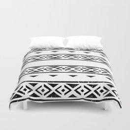 Black And White Pattern Wallpaper Print Duvet Cover
