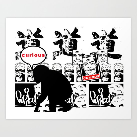 Curious On The Wall Art Print