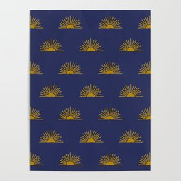 Sol in Indigo Poster