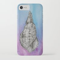 shell iPhone & iPod Cases featuring shell by Diane Nicholson