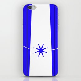 blue star on stage iPhone Skin