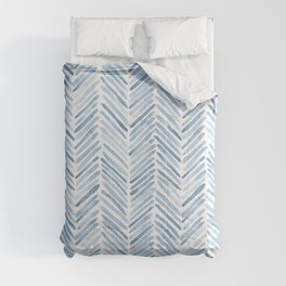 Baby blue watercolor herringbone  Comforters