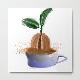 coffee bean in coffee cup Metal Print