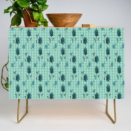 country blue flowers pattern Credenza