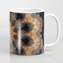 Burnt orange mandala in metallic bits and pieces Coffee Mug