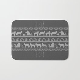 Ugly christmas sweater | Husky grey Bath Mat