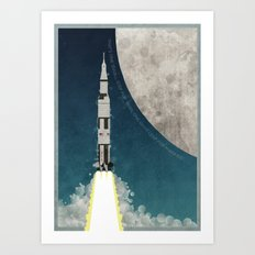 Apollo Rocket Art Print