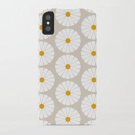 Minimal Botanical Pattern - Daisies iPhone Case