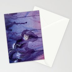 Iris, Blue and Purple Flowers Stationery Cards