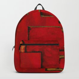 Detached, Abstract Shapes Art Backpack