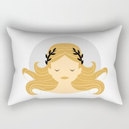 Virgo Zodiac Sign Symbol: The Maiden Rectangular Pillow
