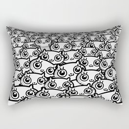 Crazy Cat Lady Dreams (in b/w) Rectangular Pillow