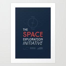 The Space Exploration Initiative Art Print