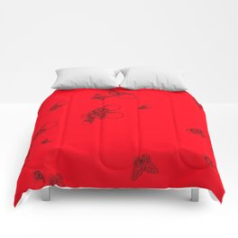 Red pattern Comforters