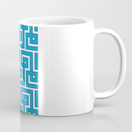Greek Key - Turquoise Coffee Mug