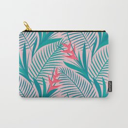 Tropical Flowers - Pink Carry-All Pouch