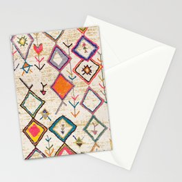 Traditional Vintage Moroccan Berber rug Stationery Cards