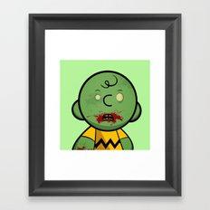 Zombie Charlie Brown Framed Art Print