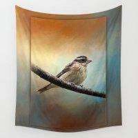 wisconsin Wall Tapestries featuring Wisconsin Songbird ~ Ginkelmier Inspired by Ginkelmier