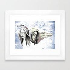 Greying Forward Framed Art Print