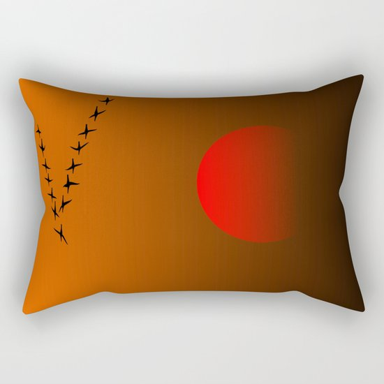 Migratory birds Rectangular Pillow