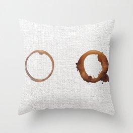 Two coffees Throw Pillow