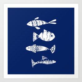 Sea fishes Art Print