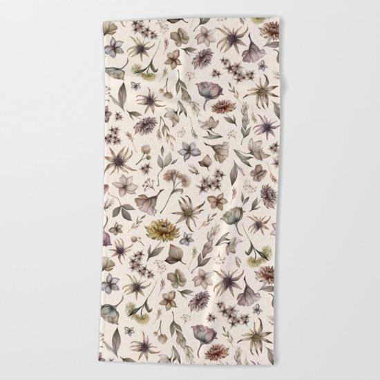 Botanical Study Beach Towel