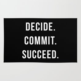 Decide. Commit. Succeed. Gym Quote Rug