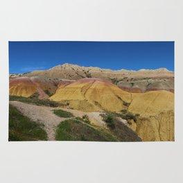 Colorful Badlands Landscape Rug