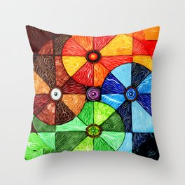 Earth Air Fire Water Ether Throw Pillow