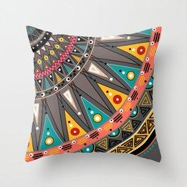Ethnic tribal ornament Throw Pillow