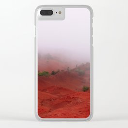 Red Land Clear iPhone Case