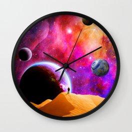 Space Solitude Wall Clock