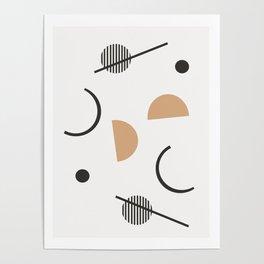 Chara - minimalist art print, abstract art, earth tones, neutral art print, geometric art print, Poster