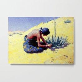 "William Leigh Western Art ""Gathering Peyote"" Metal Print"