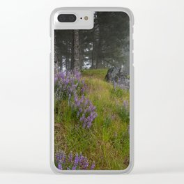 Bald Hill Lupines Clear iPhone Case