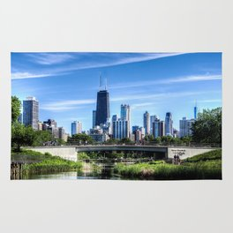 The Chicago Skyline - Lincoln Park Rug