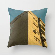 Corner building Throw Pillow