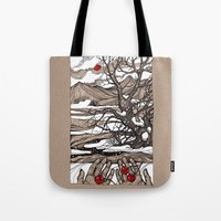 cherry Tote Bags featuring Cherry by Iris V.