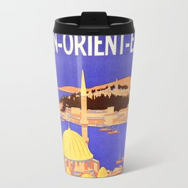 Vintage Simplon Orient Express London Constantinople Travel Mug