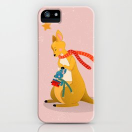Baby Kangaroo first Christmas iPhone Case