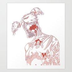Zombie Girl I Art Print