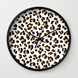 Black & Gold Leopard Spots Wall Clock