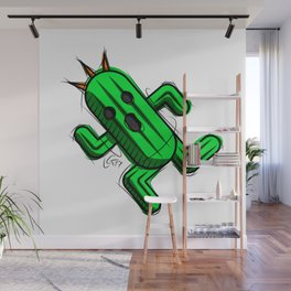 Cactuar Digital Drawing, Games Art, Kyactus, Final Fantasy Art Wall Mural