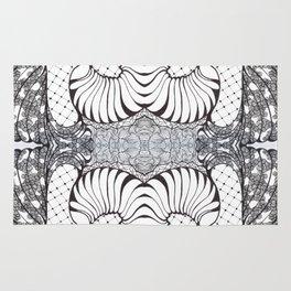 Black and White Zen Doodle 2 Rug