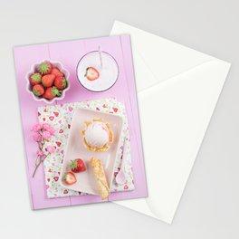 Strawberry ice cream Stationery Cards