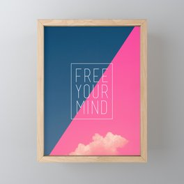 Free Your Mind III Framed Mini Art Print
