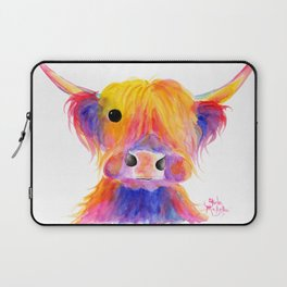 Scottish Highland Cow ' HOOTIE ' by Shirley MacArthur Laptop Sleeve